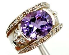 AMETHYST  SILVER RING  53.10 CTS  SIZE-  9.50  RJ-320  amethyst gemstone rings, multi fire gemstone rings,