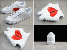 Size Euro 44 Popular Adidas Stan Smith Triple White Valentines Day Love  Limit Couple Love Shoes