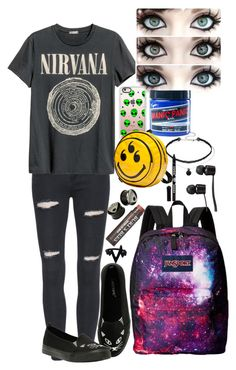 """""""Depression"""" by hold-on-til-may on Polyvore featuring H&M, JanSport, Casetify, Manic Panic NYC, Burt's Bees, Anna Sui and Vans"""