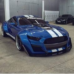 Ford Mustang Shelby GT 500 by Car Collection™ Widebody Mustang, Mustang Gt500, Mustang Cars, Shelby Mustang, Shelby Gt 500, Blue Mustang, Custom Muscle Cars, Custom Cars, Ford Mustangs