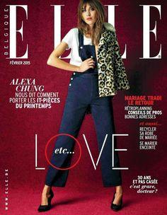Alexa Chung Covers Elle Belgique February 2015