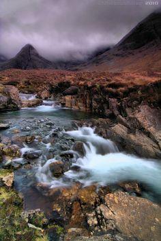 Falling Down - The Fairy Pools, Isle of Skye, Scotland #scotland