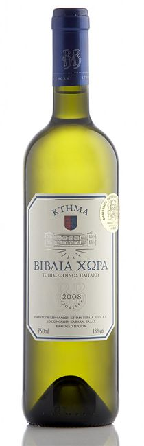 Biblia Chora White, Varieties: Assyrtiko 40%, Sauvignon Blanc 60%  Characteristics: A gentle, yellow-green colour of remarkable clarity. The marriage of the cosmopolitan and fragrant Sauvignon with the Greek Assyrtiko produces a wine with a powerful aroma redolent of exotic fruit, peach and citrus. A rich, cool and beautifully balanced flavour, pleasant acidity and a lasting, fragrant aftertaste.