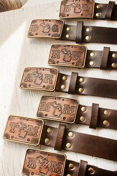 2edabaff4dd6 Groomsmen Leather Belt Buckles and Belts hand by MesaDreams,  240.00 Leather  Belt Buckle, Leather
