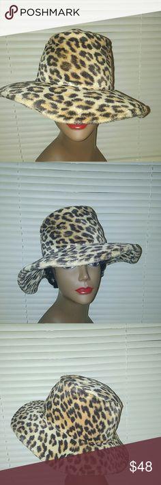 """FabuLous Vintage Faux Fur Leopard Hat  Vintage Faux Fur Leopard Hat by Mr. Paul. A Stunning Find ! Wonderful Condition Inside and Out. 22"""" Vintage Accessories Hats"""