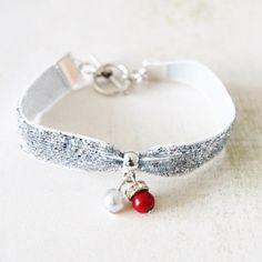 Bracelet Tissu - En Soirée  «  Perles  » - bracelet - Lfeemain - Fait Maison