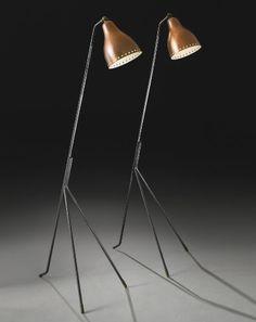 Brass and Copper Floor lamps by Holm SorensenCo | Industrial style: use modern floor lamps - see more at http://modernfloorlamps.net/industrial-style-use-modern-floor-lamps/