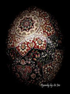 pysanky, the art of ukrainian egg painting. I'm Ukrainian! I am thankful that my Grandmom has taught me how to make these! <3