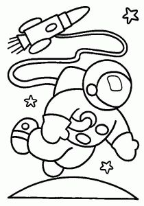 space astronaut coloring pages
