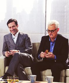 those two.... #jonhamm #johnslattery #madmen