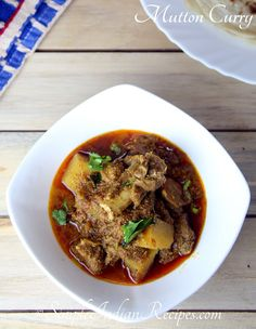 Mutton Curry: A simple and spicy mutton curry recipe @ http://simpleindianrecipes.com/Home/MuttonCurry.aspx