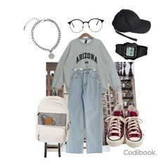 Teen Fashion Outfits, Retro Outfits, Look Fashion, Stylish Outfits, Vintage Outfits, Cool Outfits, Mode Kpop, Korean Street Fashion, College Outfits