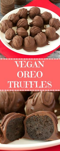 Easy 3-ingredient vegan oreo truffles. These fun, bite sized treats are perfectly textured and smothered in chocolate for a wonderful dessert. #vegan #lovingitvegan #oreotruffles #vegandessert #dairyfree | lovingitvegan.com