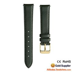 Green Grained Leather Watches Strap 3W-S-L24, click picture to designs your own brand watch.
