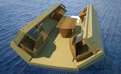 Recreational Island by Henry Ward Design