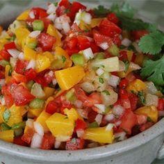 Mango, Peach and Pineapple Salsa Allrecipes.com