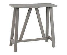 TOUCHES SCANDI: Console Manguier, Taupe - L80