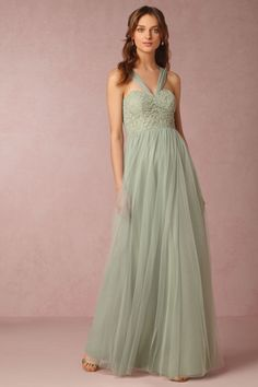 - love this Sea Glass color - this is convertible and looks really pretty multiple other ways!  Juliette Dress from @BHLDN