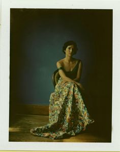 Andra Eggleston, photographed by Buddy Jackson. In an Electra Eggleston print dress.