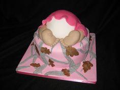 Camo baby shower cake (girl)