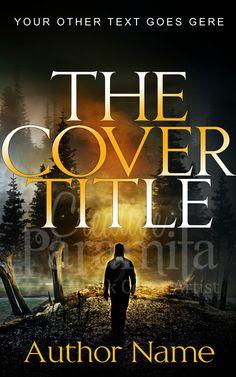 Premade book cover design with a dark theme for fiction contemporary thriller, adventure books.