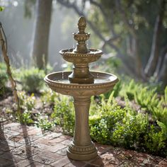 Have to have it. Vienna Outdoor Tiered Floor Fountain - $299 @hayneedle