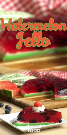 There's nothing more fun and refreshing than jello in the summertime! So versatile, this colorful treat can be made into so many different desserts. This Watermelon Jello is an absolute showstopper as a novelty jello-pie - each slice you take out once it's all set looks just like a piece of watermelon! This confection takes a little bit of patience, but each step is super simple! You'll be so glad you made this!