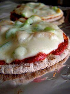 Provolone Pita Pizza