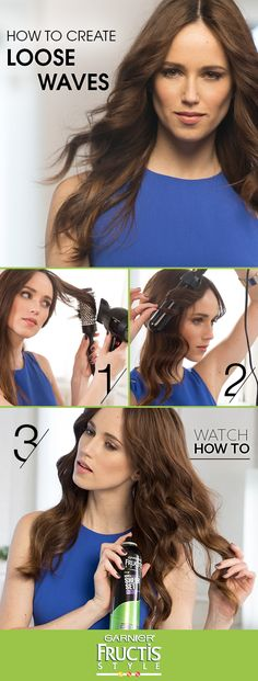 Show off your style with loose waves. Want to get the look? Watch as celebrity hair stylist Tommy Buckett shows you the 4 easy steps for creating movable, loose waves that last 48-hours with Fructis Sheer Set Hairspray.
