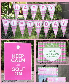 Girl Golf Party Invitation & Printable Party by SIMONEmadeit