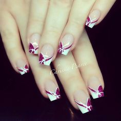 amazing nails, I love it Nail Tip Designs, French Nail Designs, Beautiful Nail Designs, Beautiful Nail Art, Acrylic Nail Designs, Classy Nails, Fancy Nails, Cute Nails, French Manicure Nails