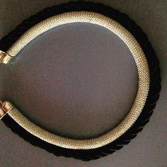 #silver&black #necklace #homemade #jewelery
