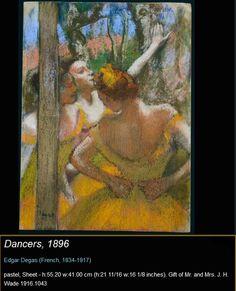 Hilaire Germain Edgar Degas - Dancers 1896 - Pastel cm - Gift of Mr and Mrs JH Wade 1916 - The Cleveland Museum of Art Edgar Degas, Degas Ballerina, Manet, Phoenix Art Museum, Claude Monet, Art Ancien, Mary Cassatt, Cleveland Museum Of Art, French Artists