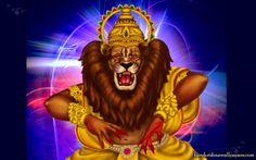 To view Narasimha Deva wallpapers in difference sizes visit - http://harekrishnawallpapers.com/sri-narasimha-deva-artist-wallpaper-002/