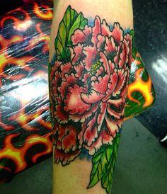 #tattoo #traditional #traditionaltattoo #dayton #937 #tattooidea #peony