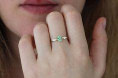 Menta granate anillo nupcial conjunto conjunto de boda de