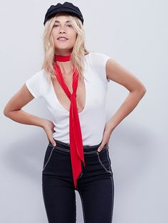 Free People High Street Solid Skinny Scarf at Free People Clothing Boutique