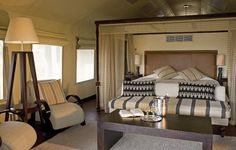 Pristine rooms and excellent service will be found here. Elephant Camp, Al Fresco Dining, African Safari, Swimming Pools, Rooms, Bed, Furniture, Home Decor, Swiming Pool