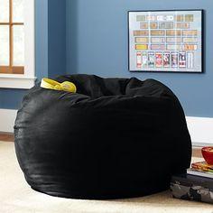 Black Washed Twill Beanbag #pbteen