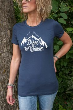 Not All Who Wander are Lost Novelty Cotton T Shirt Personality Black Tee for Toddler Kids Boys Girls