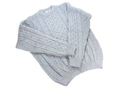 Aran Sweater Sky Blue Crew Neck from Co Kerry  $ 99.95 SAVE $ 17! Get this Aran sweater Irish made for comfort and durability! Sweater made for durability for generations. Aran sweater made from 100% wool. Made by Kerry Woollen Mills 7 miles from Killarney.