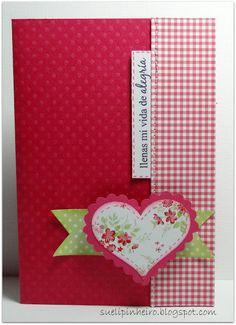 Sueli: Tarjetas San Valentin gingham polka dot floral