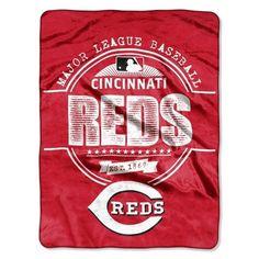 Cincinnati Reds Blanket 46x60 Raschel Structure Design Rolled