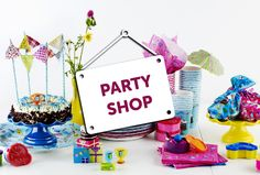 Party Shop, Birthday Cake, Events, Desserts, Food, Tailgate Desserts, Deserts, Birthday Cakes, Essen