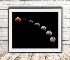 Moon print art, Moon digital, Moon phases, Full moon, Photography art, Moon light, Illustration art, Wall decor, Gift, InstantDownloadArt1