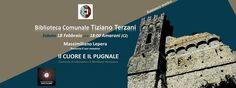 """La Biblioteca Comunale """"Tiziano Terzani""""  presenta l'incontro con l'autore del romanzo  """"Il cuore e il pugnale. Clemenza di Catanzaro e il Meridione Normanno"""" di  Massimiliano Lepera.  L'opera si configura come un romanzo storico con le tinte di un giallo.  Si narrano difatti le complesse ed intricate vicende legate al dominio normanno nel Sud Italia, tra Catanzaro e Palermo, riguardante in particolare gli anni che interrcorrono tra il 1160 e il 1163 circa. In questo periodo, sotto il regno…"""