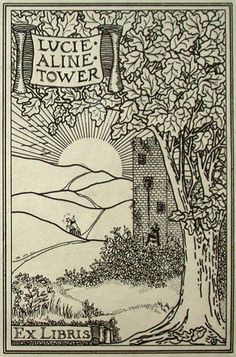 Bookplate of Lucie Aline Tower (Possibly by O'Kane)