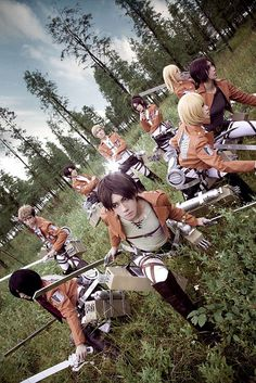 Attack On Titan Group Cosplay | Dragon*Con 2013. Really accurate in my opinion.