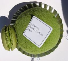 Patisserie Sadaharu Aoki:. It's actually a matcha and adzuki duomo, a green tea-flavored (matcha) ball of creamy goodness containing a shell filled with sweet red bean paste (adzuki), with a miniature matcha macaron stuck on the side.