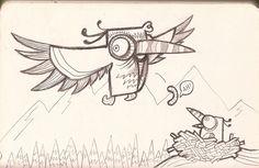 bird from sketchbook